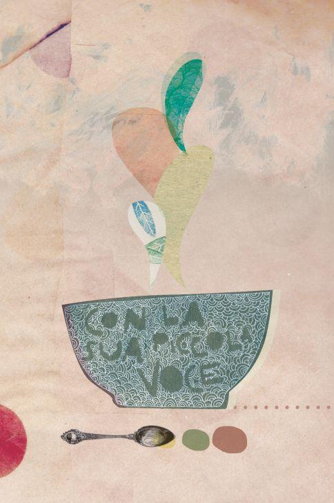 Riccioli d oro e i tre orsi collage illustrazione realizzato da in 233 ditart studio creativo rimini